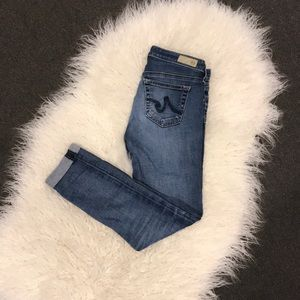 AG the stilt roll-up Jeans